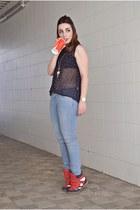 clockhouse jeans - romwe blouse