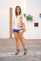 PERSUNMALL blouse - BLANCO bag - PERSUNMALL shorts - Zara heels