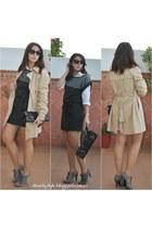 Lefties coat - Marypaz boots - Kiabi dress - Dunnes shirt - Carolina Boix bag