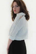 Peekaboo collar blouse