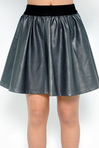 Pleather skirt - gray