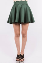 Going glam skater skirt - emerald
