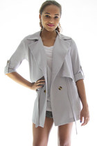 Heart icon trench jacket