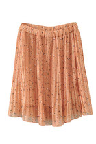 Ohayu floral skirt - orange
