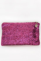 Sequins clutch - fuchsia