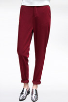 Wine trouser pants