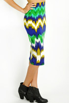 Shockwave midi skirt