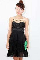 Pleated bustier dress