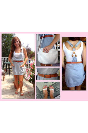 suspender dress thrifted dress
