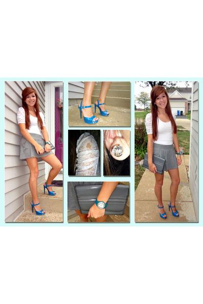 Target heels - Forever 21 shirt - Von Maur watch - Forever 21 skirt