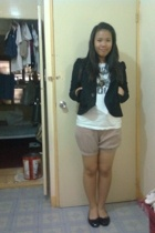 Jessica blazer - Dorothy Perkins shirt - shorts - American Eagle shoes