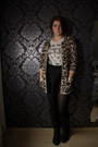 Black-new-look-boots-dark-brown-primark-sweater-off-white-gift-shirt