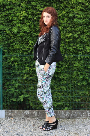 H&M jacket - Jessica Yong shirt - Zara pants - new look heels