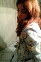 vintage blazer - new look shirt - H&M skirt