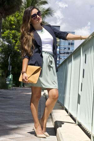 navy Love Shopping Miami blazer - clutch Love Shopping Miami bag