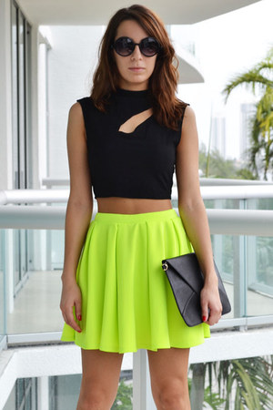Love Shopping Miami skirt - black clutch Love Shopping Miami bag