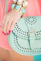 Perforated Crossbody in Mint