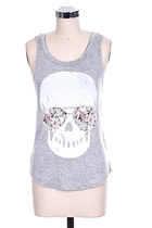 Girly Skull Printed Tank