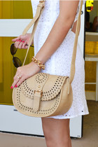 Perforated Crossbody in Beige