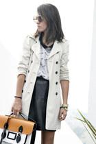 black Stella Rittwagen bag - beige Zara jacket - silver Zara blouse