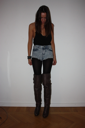Topshop top - Topshop shorts - boots