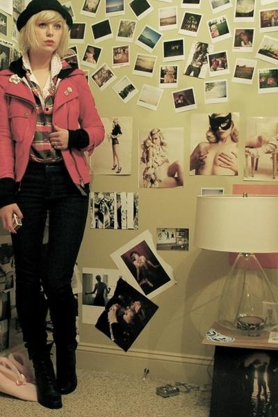 jacket - vintage from Ebay blouse - vintage blouse - Cheap Monday jeans - H&M ha