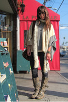 eggshell cashmere poncho Theory sweater