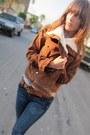 Brown-corduroy-les-folles-de-joie-jacket-blue-genetic-denim-jeans