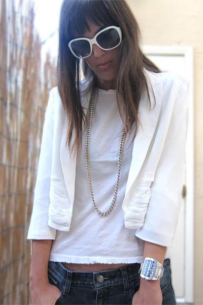 white love melrose jacket - white alternative apparel t-shirt