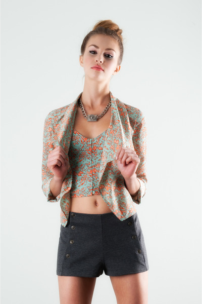 neon print lucca couture top