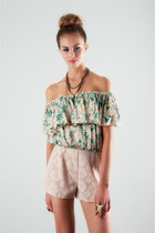 Floral-crop-top-lucca-couture-top
