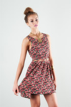 Floral-print-lucca-couture-dress