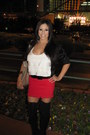 Black-bakers-boots-red-macys-skirt