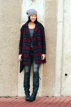 crimson pull&bear coat