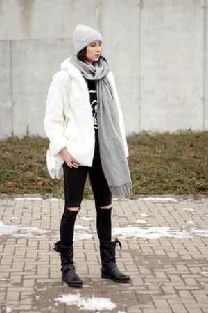 ivory fur vintage coat