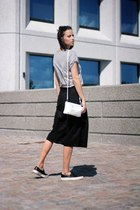 Culottes, Trio Bag, slip on shoes