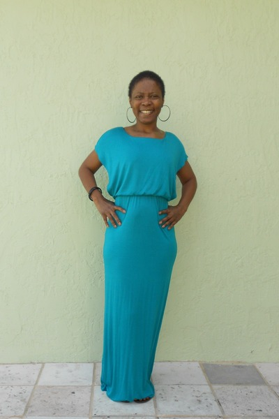 turquoise blue maxi dress