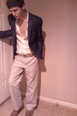 calvin klein coat - calvin klein pants - Guess shirt - Gucci belt - red tape sho