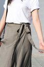 Olive-green-wrap-skirt