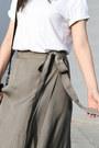 Olive-green-wrap-skirt