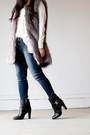 Black-vince-camuto-boots-heather-gray-faux-fur-ann-taylor-vest