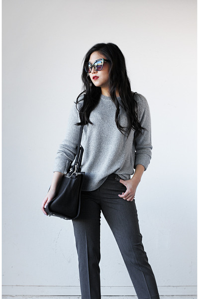 gray Forever 21 sweater - Express bag - Express pants