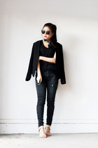 utility pants - black blazer