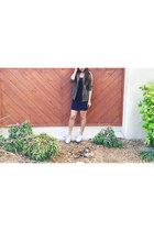 military Express jacket - bodycon Forever 21 dress - canvas Vans sneakers