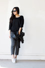 Charcoal-gray-cropped-express-pants
