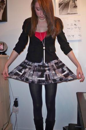 vintage blazer - Forever 21 skirt