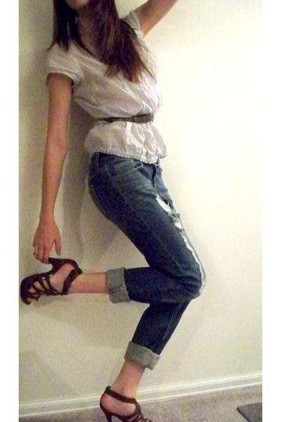 Forever 21 shoes - Target belt - Forever 21 jeans