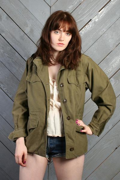 army green vintage jacket