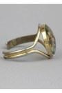 Gold-painted-glass-vintage-bracelet