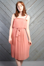 Light-pink-sheer-pleated-vintage-dress